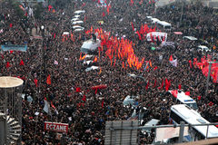 Begravning av det unga Gezi offret Fotografering för Bildbyråer