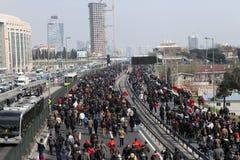 Begravning av det unga Gezi offret Royaltyfria Foton