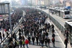 Begravning av det unga Gezi offret Arkivbild