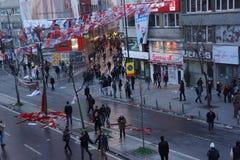 Begravning av det unga Gezi offret Arkivfoton