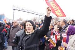 Begravning av det unga Gezi offret Royaltyfria Bilder