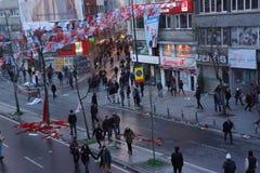 Begravning av det unga Gezi offret Arkivfoto