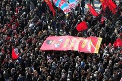 Begravning av det unga Gezi offret Royaltyfri Fotografi