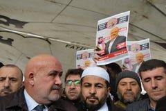 Begravning av Jamal Khashoggi royaltyfri fotografi