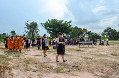 Begravning i Thailand royaltyfria foton