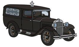 Begravnings- bil för tappning stock illustrationer