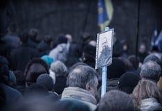 Begravnings- evromaydan aktivistsjälvförsvar Arkivbilder