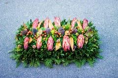 Begravnings- kransslut upp Royaltyfri Fotografi