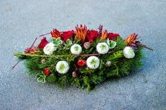Begravnings- kransslut upp Arkivbilder