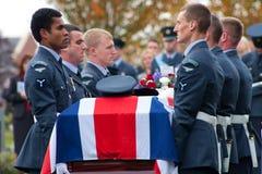 begravnings- militär kunglig person för flygvapen Arkivbilder