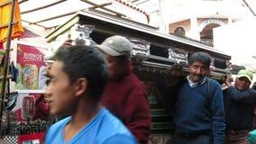 Begravnings- procession, död, Guatemala folk lager videofilmer