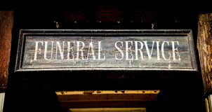 Begravnings- service Arkivfoton