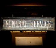 Begravnings- service Royaltyfri Bild