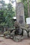 Begravnings- stele i form av en sköldpadda - Matsue - Japan Arkivbilder