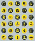 Begravnings- symboler, lägenhetdesignvektor Arkivfoton