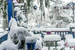 Begravt i snö 3 arkivbilder