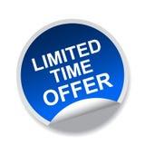 Begrenzte Zeit-Angebot lizenzfreie abbildung