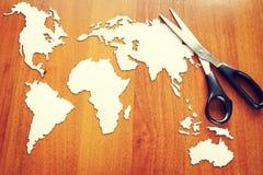 Begrepp av ändringar i den globala geoen - politiskt läge royaltyfria bilder