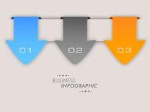 Begrepp av affärsinfographicsen med pilen Arkivbild