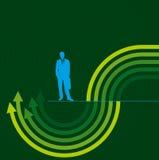 Begrepp av affärsrörelse, pilar stock illustrationer