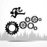 Begrepp av affärsmekanismsystemet Arkivbild