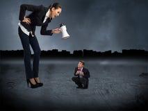 Begrepp av agression Fotografering för Bildbyråer