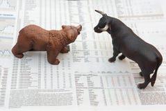Begrepp av aktiemarknaden arkivfoton