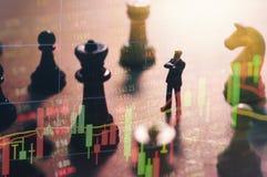 Begrepp av aktiemarknadstrategi Arkivfoton