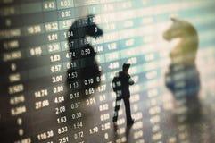 Begrepp av aktiemarknadstrategi Fotografering för Bildbyråer