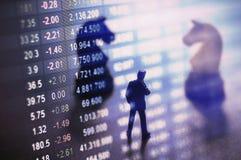 Begrepp av aktiemarknadstrategi Arkivbild