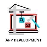 Begrepp av app-utvecklingssymbolen Royaltyfria Foton