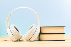 Begrepp av audiobook Royaltyfri Bild
