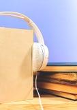 Begrepp av audiobook Royaltyfria Bilder