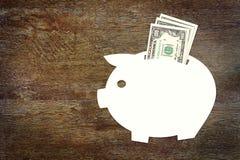 Begrepp av besparingar pengarna i US dollar Royaltyfria Foton