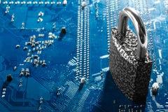 begrepp av cybersäkerhet arkivfoto