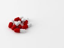 Begrepp av 3d maded preventivpillerar Royaltyfri Fotografi
