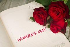 Begrepp av dagen av kvinnor Royaltyfria Foton