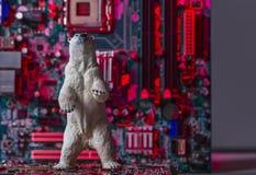 Begrepp av den Crypto marknaden för björn arkivfoto