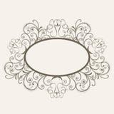 Begrepp av den dekorerade ramen för blom- design Royaltyfri Fotografi