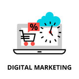 Begrepp av den digitala marknadsföringen Royaltyfri Fotografi