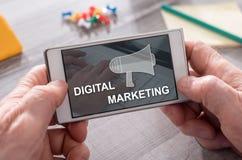 Begrepp av den digitala marknadsf?ringen royaltyfri foto
