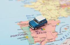 Begrepp av den Europa bilturen fotografering för bildbyråer
