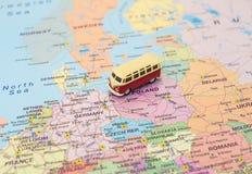Begrepp av den Europa bilturen arkivbild