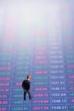 Begrepp av den finansiella aktiemarknaden Fotografering för Bildbyråer