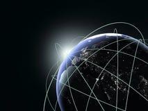 Begrepp av den globala affären. Mest bra internet på planeten Fotografering för Bildbyråer