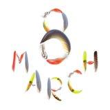 Begrepp av den internationella dagen för kvinna` s på mars, 8th royaltyfri fotografi