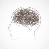 Begrepp av den mänskliga hjärnan, vektor illustrationer