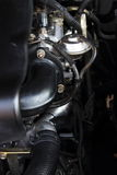 Begrepp av den moderna bilmotorn Arkivbilder