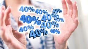 Begrepp av den 40% rabatten Royaltyfria Bilder