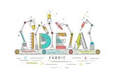 Begrepp av den skapande och byggande idén Arkivfoton